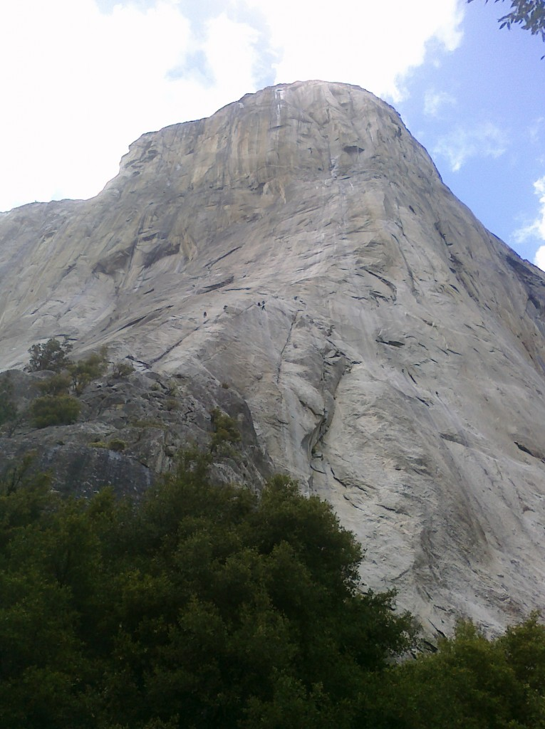 Climbers on The Nose of El Capitan