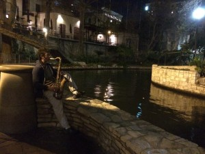 Playing by the Riverwalk